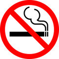 Sign No smoking Stock Images