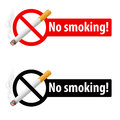 The sign no smoking Stock Image