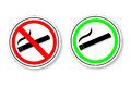 Sign - No Smoking and Smoking Area Royalty Free Stock Photo