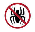 Sign - no spiders Royalty Free Stock Images