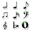 Sign note element this music for comosing jazz music rock music Royalty Free Stock Photo