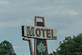 Sign an old fashioned motels Stock Images
