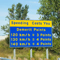 Sign in Ontario Warning of Speeding Points Royalty Free Stock Photo