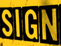 Sign in Orange Royalty Free Stock Image