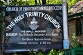 Sign outside murree s holy trinity church part church pakistan christians small minority pakistan s population Stock Images