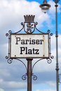 Sign of the Pariser Square in Berlin, Germany Royalty Free Stock Photo