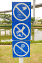 Sign in park not allowed the Royalty Free Stock Photo