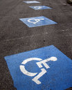 Sign - parking lot for wheelchair Royalty Free Stock Images