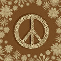 Sign of peace. lace A Royalty Free Stock Photo