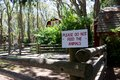Sign in petting zoo: Do not feed the animals Royalty Free Stock Photo