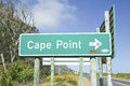Sign pointing to Cape Point, Cape of Good Hope, outside Cape Town, South Africa Royalty Free Stock Photo