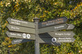 Sign post in Hyde Park Royalty Free Stock Photo