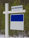 Sign post to new house development suburbs Stock Image