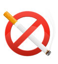 Sign prohibiting smoking vector illustration Royalty Free Stock Photo