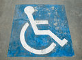 The Sign of public restroom for handicapped Stock Photo