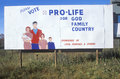 A sign that reads �please vote pro life� Royalty Free Stock Photos