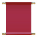 Sign of the red cloth vector illustration Stock Images