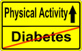 Sign roadsign diabetes physical road to prevent diabetic overweight Stock Photos