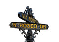 Sign of Rodeo Drive in Beverly Hills, Los Angeles Royalty Free Stock Photo