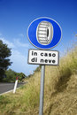 Sign on Rural Road in Italy Royalty Free Stock Photos