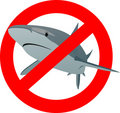 The sign of the shark Stock Images