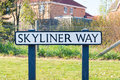 Sign for skyliner way in bury st edmunds uk street suffolk Royalty Free Stock Images