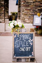 Sign of Spring sale 30% off. Royalty Free Stock Photos