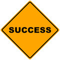 A Sign of Success Royalty Free Stock Image