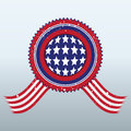 Sign with the symbol of the american flag for you design Royalty Free Stock Photo
