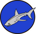 Sign symbol shark Stock Photography