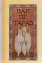 Sign tapas in a spanish bar spain Stock Images