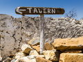 The sign tavern Royalty Free Stock Photo