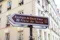 Sign To Sacre Coeur