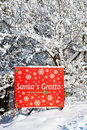 Sign to Santa's grotto Royalty Free Stock Image
