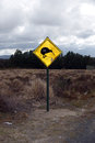Sign at tongariro nt park skiwi national new zealand Stock Photo