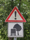 A sign traffic or construction site Stock Image