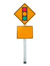 Sign of traffic lights isolated on white background light intersection Royalty Free Stock Photography