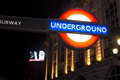 Sign of underground in london april the is the oldest railway the world covering km tracks on Royalty Free Stock Photos