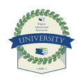 Sign university coat of arms education at university, l