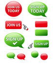 Sign up & join us icons