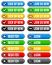 Sign Up Register Login Buttons Royalty Free Stock Photo