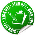 Sign up sticker Royalty Free Stock Image