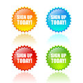 Sign up today icon Royalty Free Stock Photo