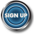 Sign up web button Stock Photo