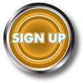 Sign up web button Stock Photos