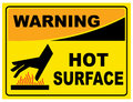 SIGN WARNING HOT SURFACE