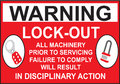 Sign Warning Lock Out in Vector