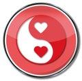 Sign yin and yang of love Royalty Free Stock Photo