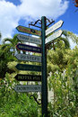 Signage at Blackbeards Castle in St Thomas Royalty Free Stock Photo