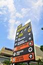 Signage at F-1 Singapore Stock Photos